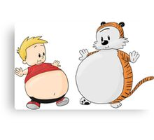 calvin and hobbes obess Canvas Print