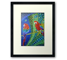 Two Scarlet Macaws Framed Print