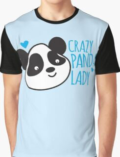 Crazy Panda Lady Graphic T-Shirt