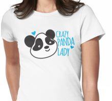 Crazy Panda Lady Womens Fitted T-Shirt