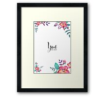 Flowers card Framed Print