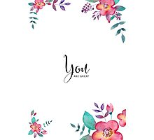 Flowers card Photographic Print