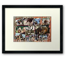 IT'S A COW GIRL THING, BARREL RACING. Framed Print