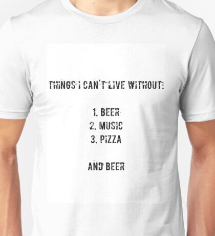 beer, music, pizza Unisex T-Shirt