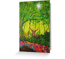 Young Red Deer Stag Greeting Card