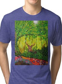 Young Red Deer Stag Tri-blend T-Shirt