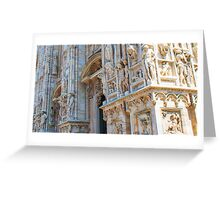 sculptures of south and west facade. Duomo. Milan Greeting Card