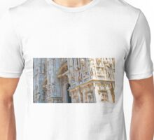 sculptures of south and west facade. Duomo. Milan Unisex T-Shirt
