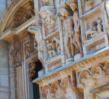 sculptures of south and west facade. Duomo. Milan Sticker
