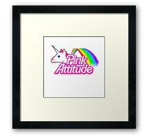 """""""pink Attitude"""" Framed Print"""