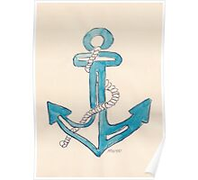 Nautical theme - Anchors away! Poster