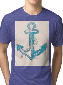 Nautical theme - Anchors away! Tri-blend T-Shirt