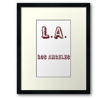 L.A: Los Angeles Framed Print