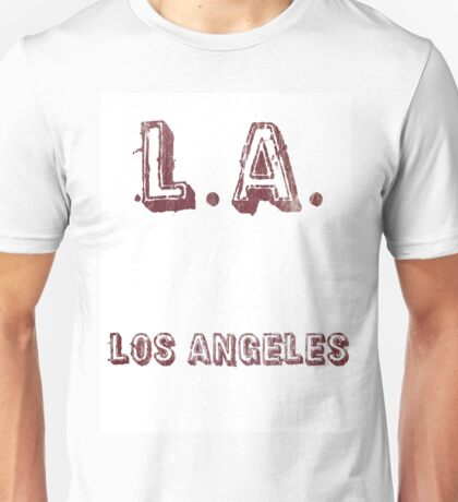 L.A: Los Angeles Unisex T-Shirt