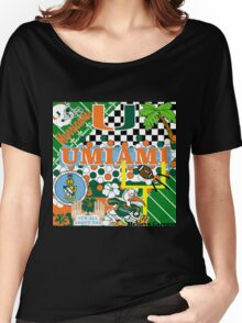 UNIVERSITY OF MIAMI COLLAGE Women's Relaxed Fit T-Shirt