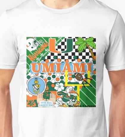 UNIVERSITY OF MIAMI COLLAGE Unisex T-Shirt
