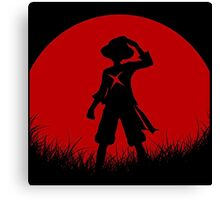 one piece red moon Canvas Print
