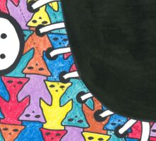 Pete the Cat Loves His Groovy Multi-Colored Shoes Sticker