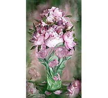 Pink Peonies In Peony Vase Photographic Print