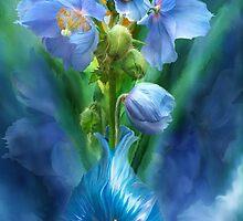Blue Poppies In Poppy Vase by Carol  Cavalaris