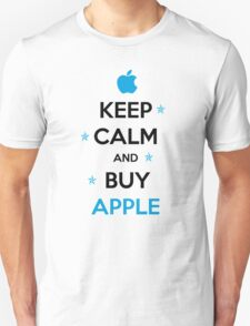KEEP CALM and buy Apple in blue T-Shirt
