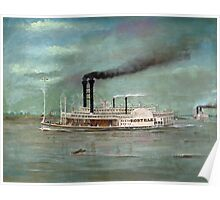 Steamboat Robert E. Lee Painting  Poster