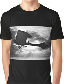 Early Airplane Flight - Backlit Graphic T-Shirt