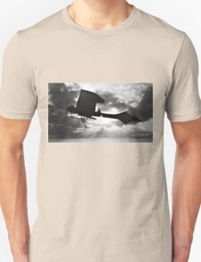Early Airplane Flight - Backlit Unisex T-Shirt