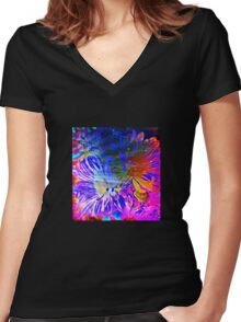 Gerber Daisies Women's Fitted V-Neck T-Shirt