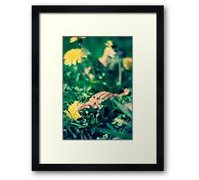 Lazy Munch Framed Print