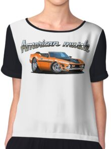 Cartoon muscle car Chiffon Top