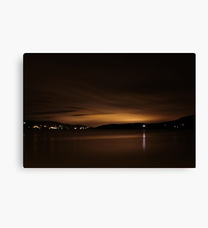 Lough Swilly Donegal at Night Canvas Print