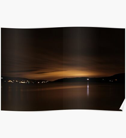 Lough Swilly Donegal at Night Poster