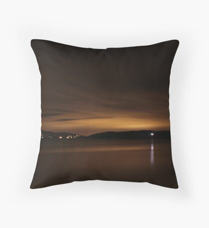 Lough Swilly Donegal at Night Throw Pillow
