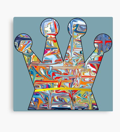 Graffiti crown Canvas Print