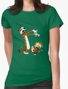 zombie calvin hobbes Womens Fitted T-Shirt