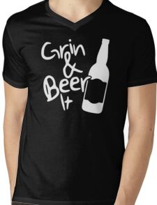 Grin and Beer it Mens V-Neck T-Shirt