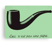 is this a  pipe? Canvas Print