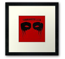 The Eye of Commander Lexa Framed Print