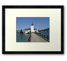 Ort Castle in Traunsee Lake, Austria Framed Print