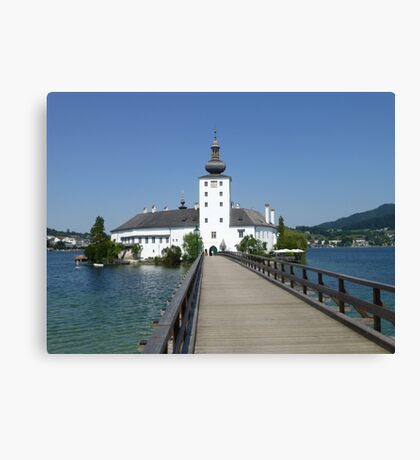 Ort Castle in Traunsee Lake, Austria Canvas Print
