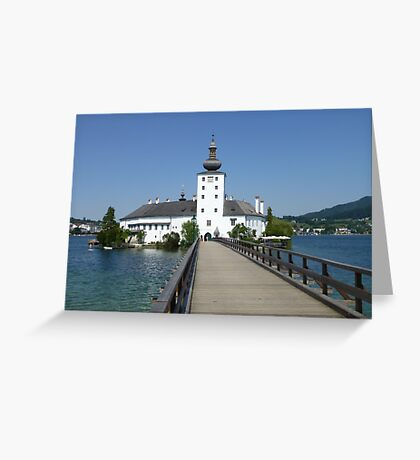 Ort Castle in Traunsee Lake, Austria Greeting Card