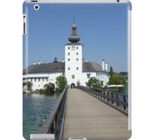 Ort Castle in Traunsee Lake, Austria iPad Case/Skin