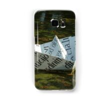 Shallop of paper in pool Samsung Galaxy Case/Skin