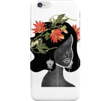 Wildflower Crown Silhouette iPhone Case/Skin