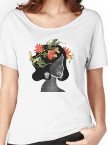Wildflower Crown Silhouette Women's Relaxed Fit T-Shirt