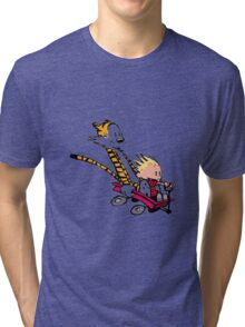 calvin and hobbes speed Tri-blend T-Shirt