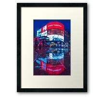 All marketing is propaganda @londonlights Framed Print