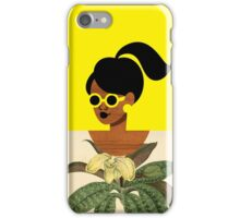 Ponytail Girl with Nature Shirt iPhone Case/Skin