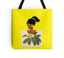 Ponytail Girl with Nature Shirt Tote Bag
